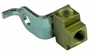 """3/16"""" Inverted Flare Brake Line Brass Tee 3/8-24 All Sides With Bracket, 7812"""