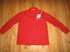 VTG. BOY SCOUTS OFFICIAL RED COAT JACKET - WITH PATCH - HEAVY WOOL COAT  -  BB-1