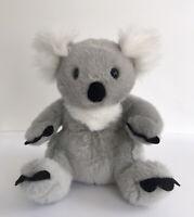 "Build A Bear Koala Plush Gray White Sitting Stuffed Animal Toy BABW Retired 12"""
