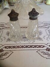 ANTIQUE CUT GLASS SALT AND PEPPER SHAKERS