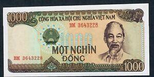 VIETNAM P102 1000 DONG 1987  #BM   UNC.