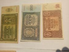 More details for croatia banknote set ww2 lot high value and quality hrvatska kroatien 1941 +