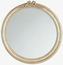 John Lewis Traditional Round Bow Wooden Frame 80cm Mirror (Gold) B+