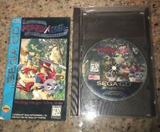 Popful Mail Sega CD Authentic Original With Manual And Case.
