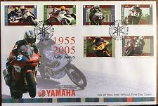 TT SPECIAL: YAMAHA FIRST DAY COVER ISLE OF MAN FIFTY YEARS .1955-2005