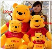 100CM Giant Big Winnie The Pooh Bear Stuffed Animal Plush Toys Doll Kid's Gift