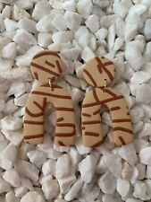 Posts - Fun U Shape Handmade polymer clay earrings. Surgical Steel