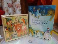 MAGO DI OZ LYMAN FRANK BAUM Libro Il Meraviglioso, Mondadori + quadretto puzzle