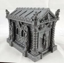 Cemetery Mausoleum Tomb | 28mm Scale Terrain | Dungeons and Dragons | Warhammer