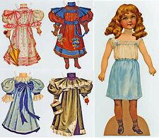 Alice Vittoriano Bambole Bambino anziehpuppe Lusso-Set tranciato caratterizzato