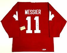 MARK MESSIER SIGNED 1987 CANADA CUP TEAM CANADA JERSEY STEINER COA OILERS