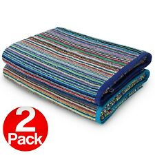 Kaufman-2 Pack-Beach Terry Royal Stripe Towel.Assorted Color 100% Cotton 30 x 60