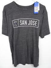 🔥 adidas Originals MLS Soccer San Jose Earthquakes T-Shirt Gray Large NWT