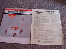 VINTAGE HOMKO 1963-1964 LAWN MOWER TRACTOR TILLER DEALER SALES BROCHURE LOT #2