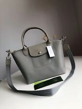 New Authentic Longchamp Le Pliage Neo 1512 Strap Handbag - Size Small - Grey