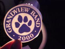 Window,Bumper Sticker,Decal,Grandview High school Ohio Band 2000 paw logo mint