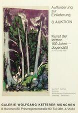 UNBEKANNT (20.Jhd), Einlieferung zur 8. Auktion der Galerie W.Ketterer, Druckerz