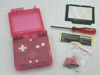 GameBoy Advance SP Replacement Shell Kit Clear Pink Shell USA Seller
