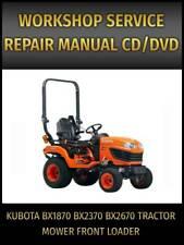 New Listingkubota Bx1870 Bx2370 Bx2670 Tractor Mower Front Loader Service Repair Manual Cd