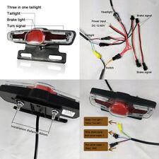 4sets Electric Bicycle E-bike Headlight Horn Tail Light Switch12V-80V 12W LED