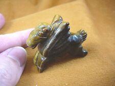 (Y-Peg-Ru-565) Tiger's eye Pegasus flying gemstone winged horse Figurine carving