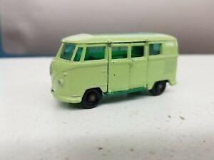 1962 Matchbox Volkswagen Caravette Camper Green Diecast Nr. Mint Shelf V4