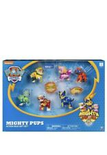 Paw Patrol Mighty Pups Action Pack Gift Set 6 Dog Figures Light Up Playset