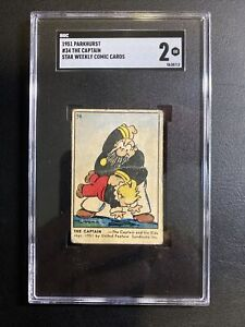 1951 Parkhurst Star Weekly Comic Cards #34 The Captain SGC 2