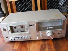 Silver vintage Sony TC-U2 TCU2 STEREO CASSETTE DECK PLAYER