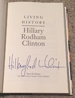 HILLARY CLINTON SIGNED AUTOGRAPH FULL SIG LIVING HISTORY HARDCOVER BOOK w/PROOF