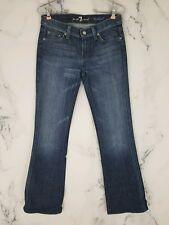 Seven 7 For All Mankind 26 Womens Bootcut Jeans Medium Wash Rhinestone Pockets