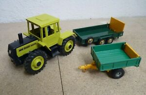 Vintage Britains Mercedes Benz Tractor 1500 and Trailers (Salop and Tipping)