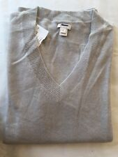 J Crew New 100% Cashmere Men V-Neck Sweater Size L