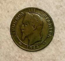 5 CENTIMES 1864 K Napoléon III, tête laurée Bordeaux F.117/13 - TB++