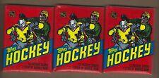 ( 3 )  1981  TOPPS  HOCKEY  WAX  PACKS    VERY  CLEAN