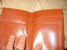 Authentic   *MCM* -  WALLET  or  NOTE - PAD   in cognac / tan   -----  NEW