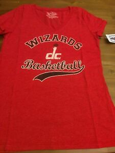 Washington Wizards Women's John Wall V-Neck T-Shirt Size Large Color Red