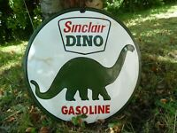 "SINCLAIR porcelain sign advertising vintage gasoline 16"" oil old gas USA pump"