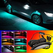 4x Ice Blue LED Wheel-Well Decoration Lights Fender Lamp Strobe Breathing 3 Mode
