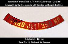 Chevrolet Turbo Jet 350 HP Air Cleaner Decal Premium Chrome Laminated 0246