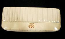 Ted Baker Pink Oversized Long Clutch Bag Patent Pink Rose Gold Logo Evening Bag