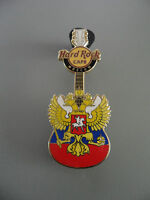Hard Rock Cafe Moscow 2010 - Russian Emblem - Yellow Crowned Eagle Guitar Pin