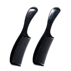 Luxxii (2 Pack) Black Styling Essentials Round Handle Comb 8 inch