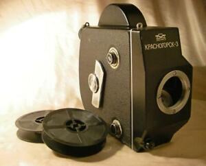 KRASNOGORSK-3 camera BODY 16mm film movie cine M42 Pentax lens mount spool AS-IS
