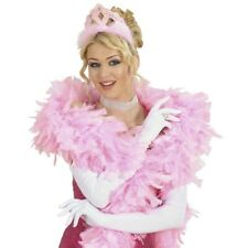 ROSA DIADEM KRONE Prinzessin Marabu Haarreif JGA Damen Mädchen Kostüm Party 8666