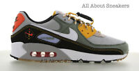 """Nike Air Max 90 """"Spiral Sage-White-Black"""" Men's Trainers Limited Stock All Sizes"""