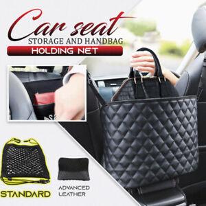 Advanced Car Net Pocket Handbag Holder Organizer Seat Side PU Leather Storage