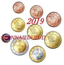 Série 1 Cent à 2 Euro Chypre 2019 - Série UNC