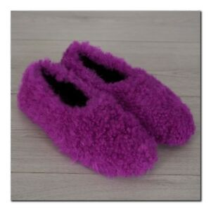 CELINE by Phoebe Philo 800$ Authentic New Cosy Slippers In Magenta Shearling