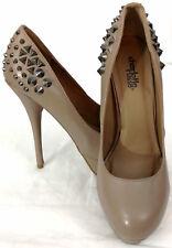 Charlotte Russe Womens Shoes Heels Sz 8 Slip On Beige Nude Platform Metal Spike